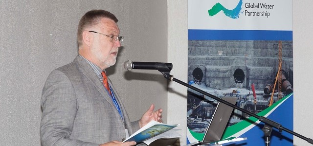 Global Water Partnership Executive Secretary Rudolf Cleveringa speaking during GWP-SA Consulting Partners Meeting in Johannesburg