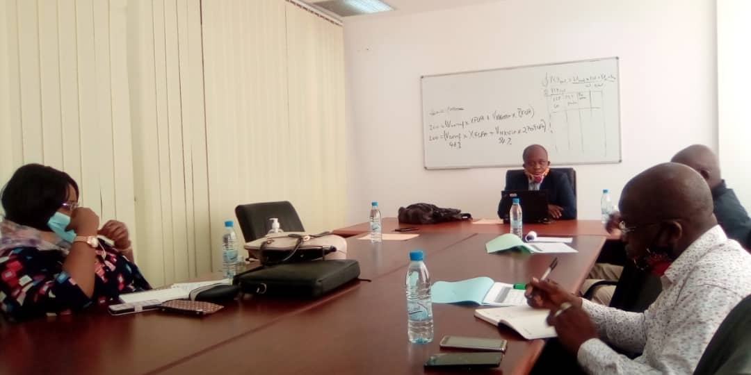 GWP-Congo Chair, Mr. Herve Didas presiding over the Steering Committee Meeting