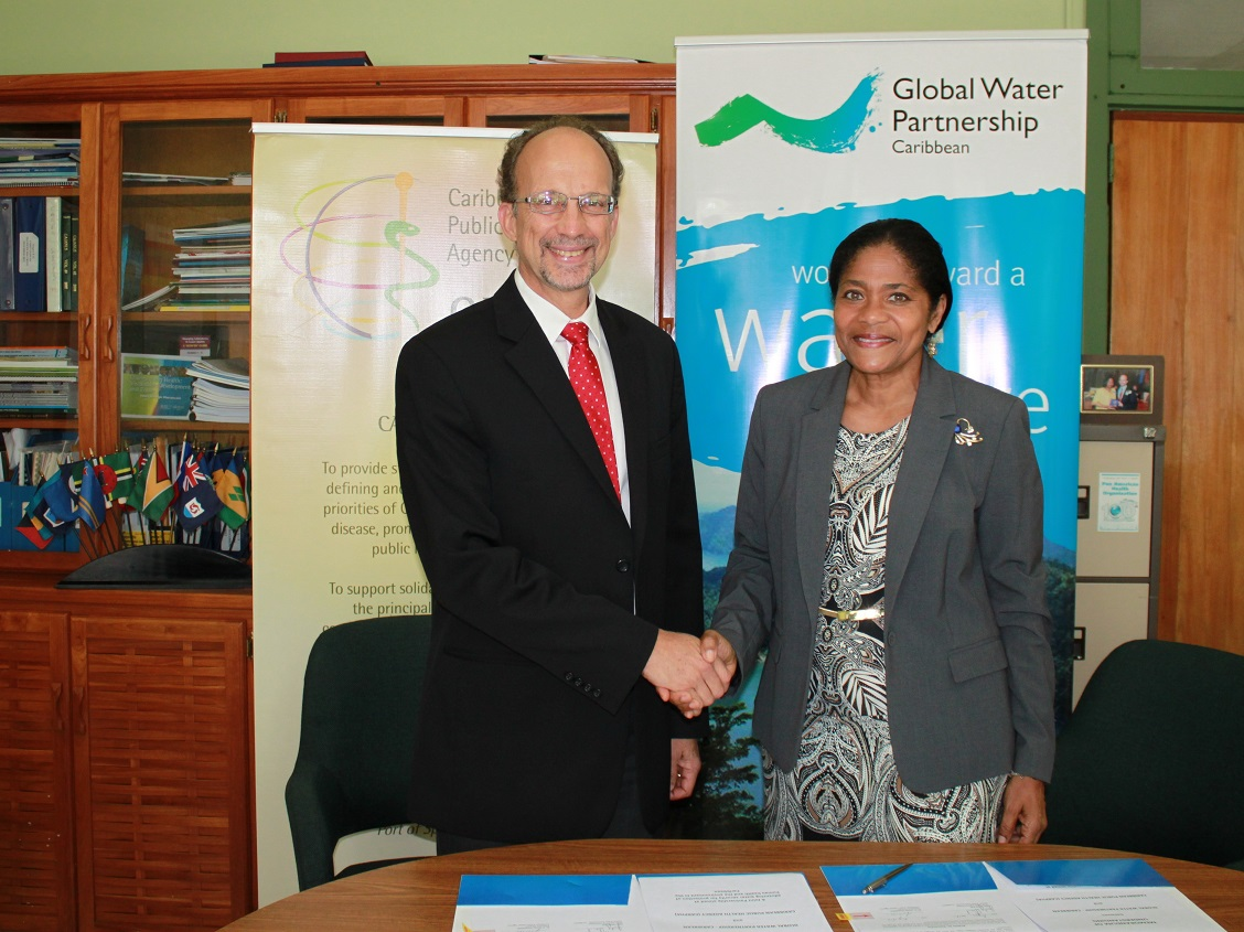 Dr C. James Hospedales, Executive Director of CARPHA and Ms. Judy Daniel, Chair of the GWP-C.